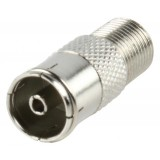 Coax female naar F female verloop adapter